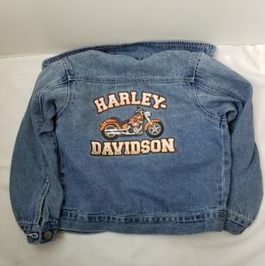 Harley Davidson Kids Demin Moto Jacket Sz. 6/7